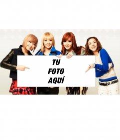 Fotomontaje con el grupo musical 2NE1