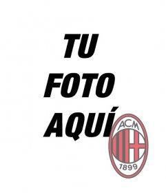 Fotomontaje para poner el escudo del A.C. Milán en tu foto