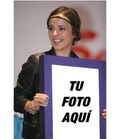 Fotomontaje junto a la cantante francesa Alizée