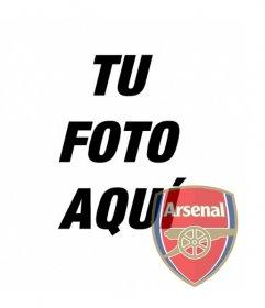Fotomontaje de el escudo del Arsenal en tu foto. Perfecto para poner de avatar