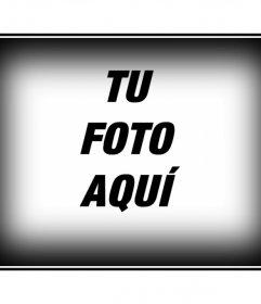 Marco para una foto con borde blanco y negro. Edita tus fotografías con los montajes de esta página, de forma fácil y gratuita. Conseguirás un resultado profesional