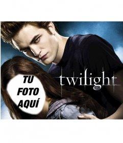 Fotomontaje para aparecer en el poster de la película Twilight como Bella