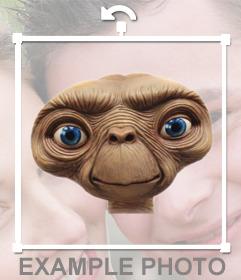 Fotomontaje para poner la cabeza de ET el extraterrestre como un fotomontaje en tus fotos online