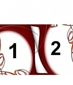 Curioso marco para dos fotos, de colores blanco, rojo y fuego