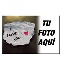 Pon la foto de tu persona querida junto con una nota