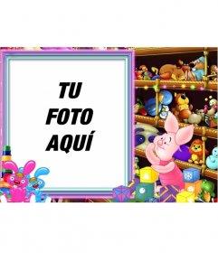 Marco para fotos para niños en la tienda de juguetes especial para bebés