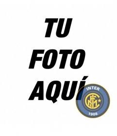Foto montaje del Inter de Milán para poner su escudo en tu foto