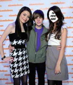 Fotomontaje de Justin Bieber en los premios Nickelodeon