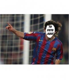 Ponle una cara al jugador de fútbol Lionel Messi con este fotomontaje