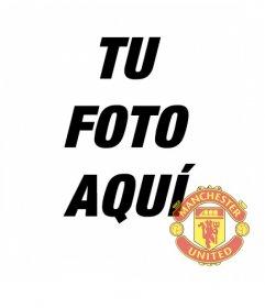 Fotomontaje en el que puedes poner el escudo del Manchester United en tu foto