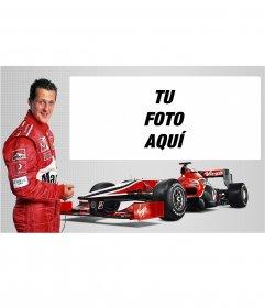 Fotomontaje de Michael Schumacher