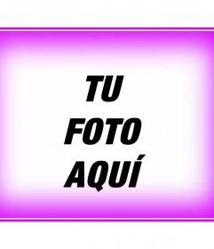 Marco para fotos consistente en un borde para fotos color rosa difuminado