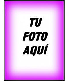 Fotomontaje, pon un borde o marco rosa en degradado. Para decorar tus fotografías
