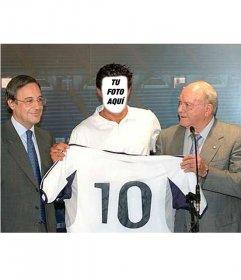 Edita este foto efecto para poner tu cara en la cara de un jugador del Real Madrid