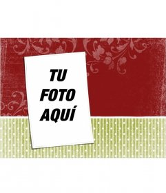 Montaje para editar con tu foto y añadirla en un fondo de tapiz navideño