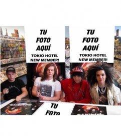 Collage para poner tu foto en la presentación de un nuevo disco de Tokio Hotel