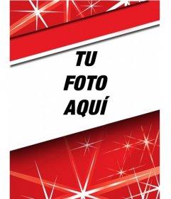 Destaca tu foto de perfil estas Navidades con este marco rojo