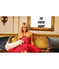 Foto efectos para salir en un cuadro junto a Paris Hilton