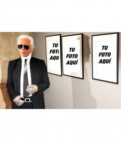 Foto efecto junto a Karl Lagerfeld. Pon tu foto en los cuadros