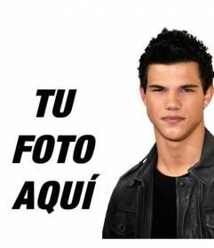 Foto montaje junto a Taylor Lautner de Luna Nueva