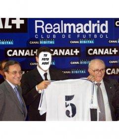 Montaje fotográfico de Zinedine Yazid Zidane, el día de su fichaje por el Real Madrid