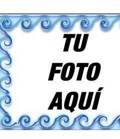 Rodea tus fotos con agua editando este marco online