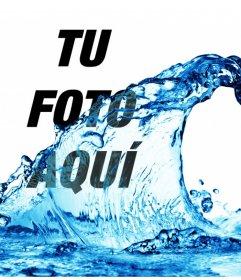 Efecto para fotos como si te estuvieran tirando un cubo de agua en tu foto