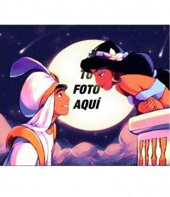 Fotomontaje de la peli Aladdin
