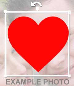 Añadir pegatina de corazones en tu foto online