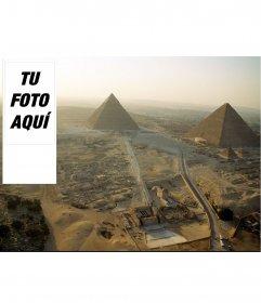 Fondo para twitter en el que podrás poner tu foto, de pirámides antiguas de Egipto