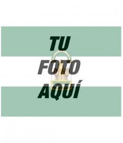 Montaje con la bandera de Andalucía junto con tu foto