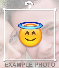 Emoticon del angel de Whatsapp para pegar en tus imágenes