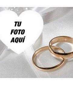 Especial foto efecto para comprometidos con dos anillos de oro