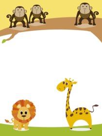 Marco infantil con animalitos para personalizar con tu foto