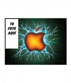 Fondo para twitter para fans de Apple, personalizable con tu foto
