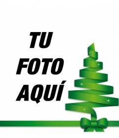 Decoración para foto de árbol de Navidad verde para poner en tus fotos online