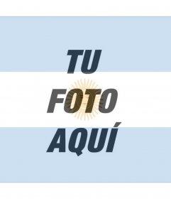 Fotomontaje para hacer con la bandera de Argentina con tu foto