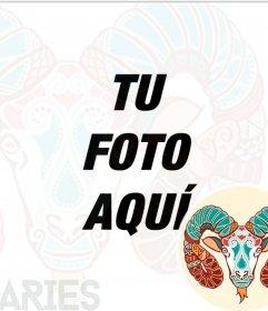 Símbolo del zodiaco Aries para tus fotografías de perfil