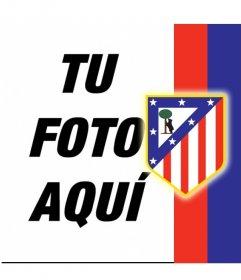 Pon el escudo del Atlético de Madrid con tu foto