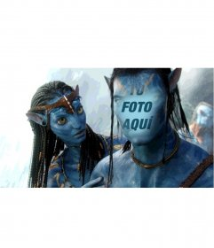 Tu cara en la de un famoso alienígena azul con trenzas de cine