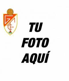 Foto de perfil con el escudo del Granada futbol club para publicar en las redes sociales