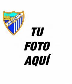 Añade a tu foto de perfil el escudo del Málaga fútbol club online y gratis