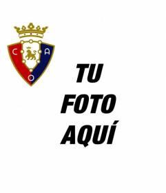 Pon el escudo del Osasuna en tu foto de Facebook online y gratis
