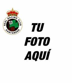 Avatar para facebook con el escudo del Real Racing club de Santander encima de tu foto