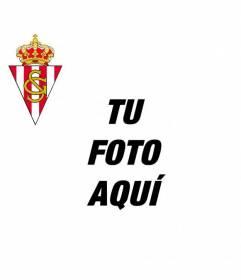 Añade el escudo del Real Sporting de Gijón a tu fotografía de Facebook o Twitter y anima a tu equipo de fútbol favorito