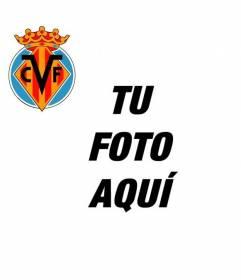 Escudo del Club de Fútbol de Villarreal para tu foto de perfil
