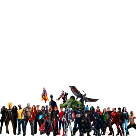 Fotomontaje con los personajes de Avengers Infinity War