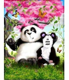 Disfraz de oso panda que puedes editar online y gratis