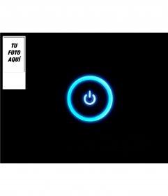 Fondo personalizable para tu cuenta de twitter con un símbolo de encendido luminoso