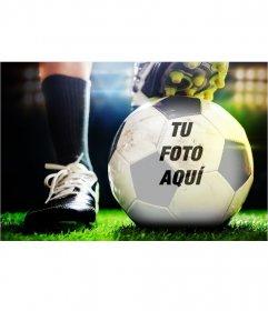 Fotomontaje para poner tu foto en una pelota de fútbol